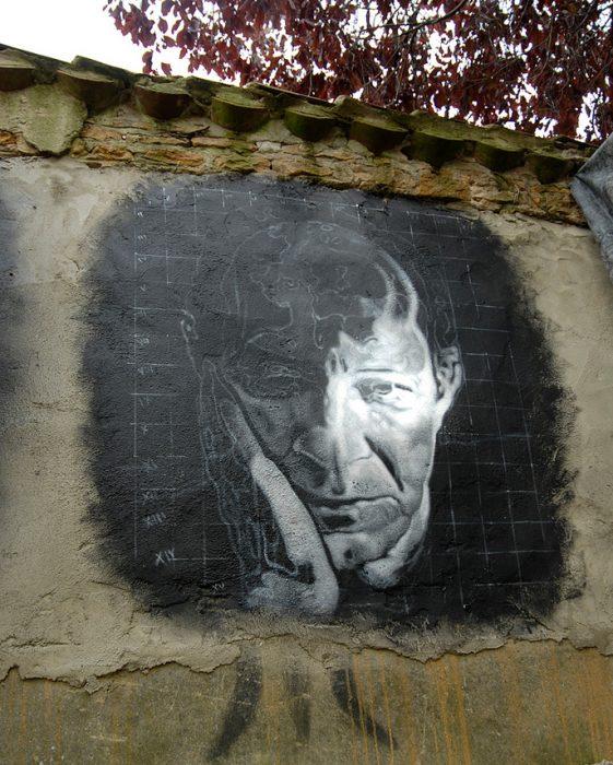 Giorgio Agambeno atvaizdas Chaoso buveinėje (Demeure du Chaos, šiuolaikinio meno muziejus Prancūzijoje)