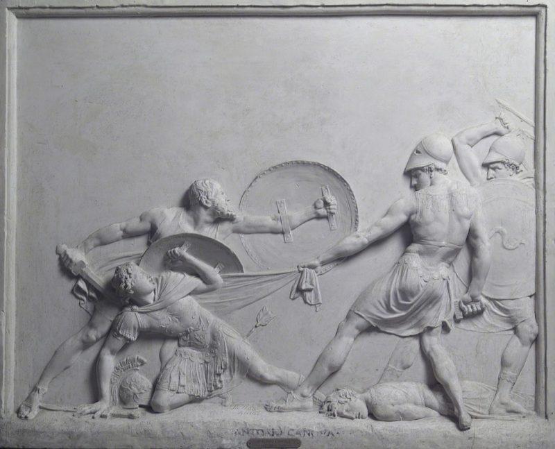 Sokratas išgelbsti Alkibiadą mūšyje prie Potidėjos