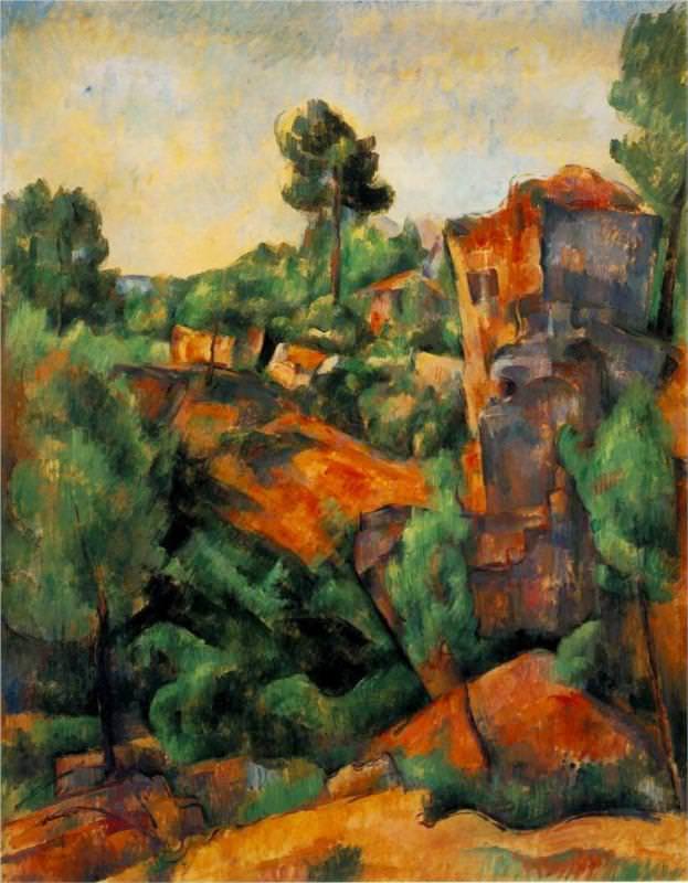 Paul Cézanne. Bibemuso akmenų skaldykla (1898)