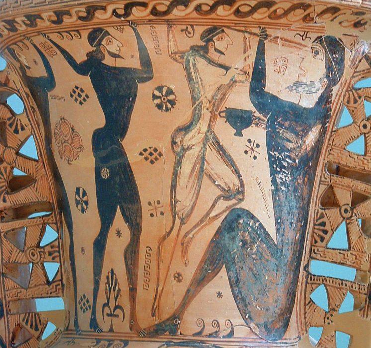 Odisėjas ir jo vyrai apakina kiklopą Polifemą